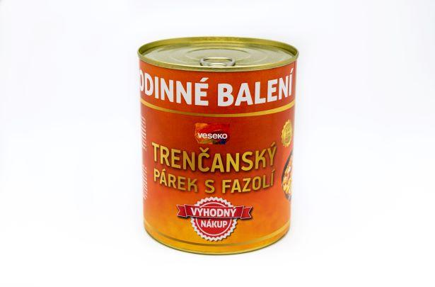 Trenčanský párek s fazolí XXL